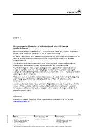 Hydrogeolog Sweco - Civilingenjörsprogrammet i miljö- och ...