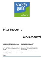 NEUE PRODUKTE NEW PRODUCTS - Spoga+Gafa