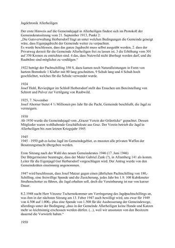 Chronik 2001 - Gemeinde Allerheiligen bei Wildon