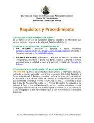 Requisitos y Procedimiento - Secretaría de Relaciones Exteriores ...