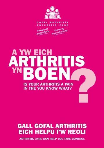 Information leaflet Welsh - Arthritis Care