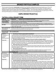 bronze portfolio samples - Society of Manufacturing Engineers