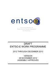 ENTSO-E CONSULTATION PROCESS - Swiss Energy Council
