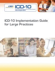 ICD-10 Implementation Guide for Large Practices - Association of ...