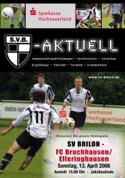 """10. Ausgabe 2007/2008 von """"SVB-aktuell"""" - SV 20 Brilon"""