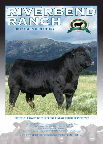 riverbend ranch 2011 semen directory - Angus Journal