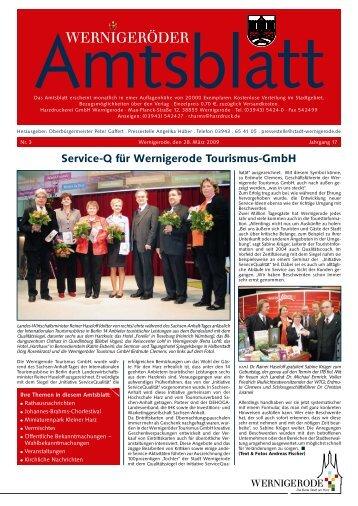 Service-Q für Wernigerode Tourismus-GmbH - Stadt Wernigerode