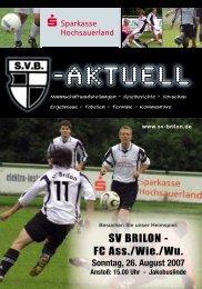 """2. Ausgabe 2007/2008 von """"SVB-aktuell"""" - SV 20 Brilon"""