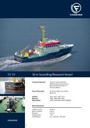30 m Sounding/Research Vessel - Fr. Fassmer GmbH & Co. KG