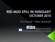 Red mud spill in Hungary, October 2010