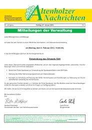 Altenholzer Nachrichten, Freitag, 27. Januar 2012 - bei der ...