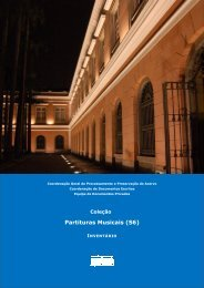 Partituras Musicais - Arquivo Nacional
