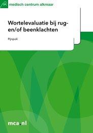 mca.nl Wortelevaluatie bij rug- en/of beenklachten