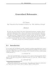 Generalized Holonomies - Faculdade de Ciências