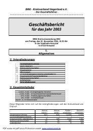 Geschäftsbericht 2003 -neu- - DRK-Kreisverband Siegen-Wittgenstein