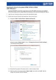 Installation Guide for Device Driver Windows 7 - EK-Team
