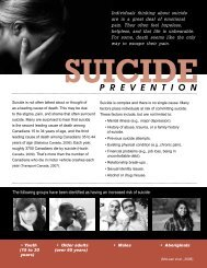 Suicide Prevention: What You Should Know (pdf) - City of Windsor ...