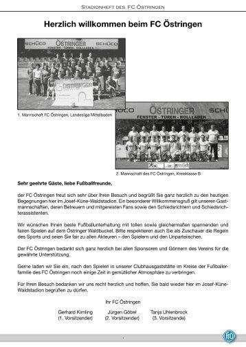 Stadionheft vom 02.09.2012 - FC 1922 Östringen eV