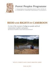 REDD AND RIGHTS IN CAMEROON - Forest Peoples Programme