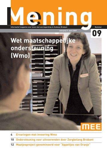 Wet maatschappelijke ondersteuning (Wmo) - MEE Zuidoost Brabant