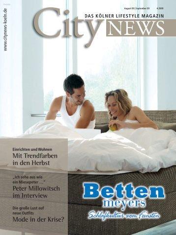 Mit Trendfarben in den Herbst Peter Millowitsch im ... - CityNEWS