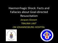 Jacques Goosen Haemorrhagic Shock Facts and Fallacies about ...
