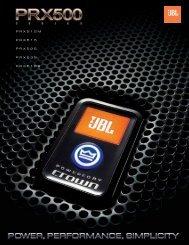 PRX Brochure - JBL Professional