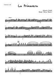 La Primavera - Clarinet Institute Home Page