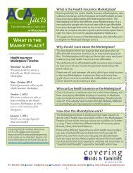 Marketplace Fact Sheet - Covering Kids & Families