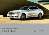 Třída E - kupé - Mercedes-Benz PRAHA
