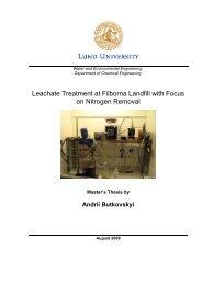 Leachate Treatment at Filborna Landfill with Focus on ... - Kemiteknik