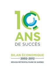 Bilan économique 2002-2012 pour la région métropolitaine de ...