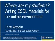 Where are my students? - Wintec Research Archive