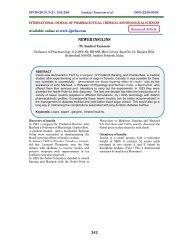 NEWER INSULINS - ijpcbs