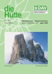Inhalt-H.tte 150.qxd - Deutscher Alpenverein Sektion Hildesheim
