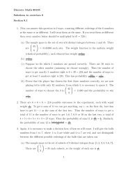 Discrete Math 89195 Solutions to exercises 8 Section 8.1 1. (You ...