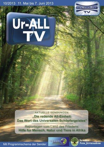 10/2013 11. Mai bis 7. Juni 2013 - DIE NEUE ZEIT TV