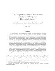The Competitive Effects of Transmission Capacity in a Deregulated ...