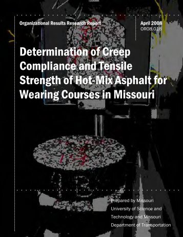 Determination of Creep Compliance and Tensile Strength of Hot-Mix ...