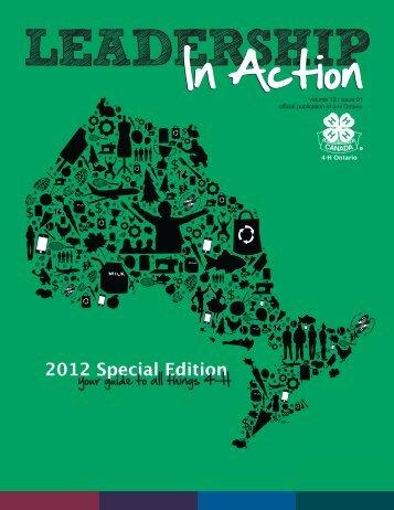 Special Edition 2012 - 4-H Ontario