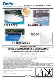 STARDECK IGLOO II AQUADECK THERMODECK - Piscines Zyke