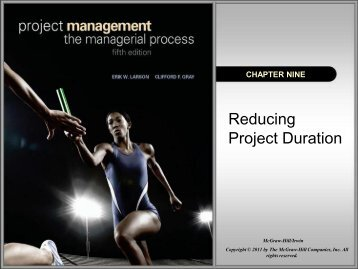 Chapter 9 Reduce Project Duration