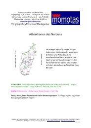 Attraktionen des Nordens 6+X-Tage 2013 - momotas – Madagaskar