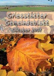 Gemeindeblatt Oktober 2008 - Griesstätt