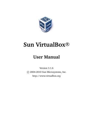 Sun VirtualBox User Manual