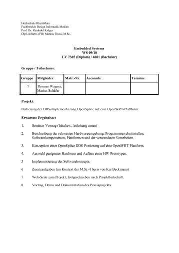 OpenWRT-Portierung OpenSplice DDS [pdf] - Labor für Verteilte ...