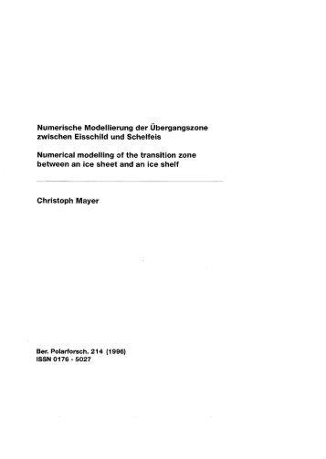 Numerische Modellierung der zwischen Eisschild und ... - ePIC - AWI