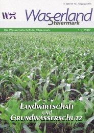 Landwirtschaft Grundwasserschutz - Wasserland Steiermark