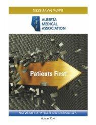DISCUSSION PAPER - Alberta Medical Association