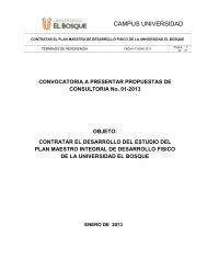 Términos de Referencia - Desarrollo del Estudio del Plan Maestro ...
